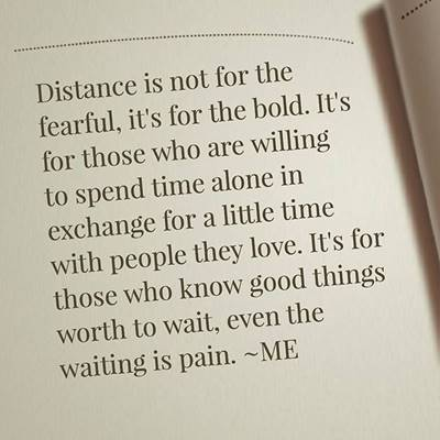 no matter the distance or miles apart hopeful relationship quotes