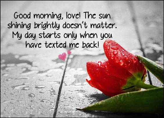 42 romantic good morning message for my love