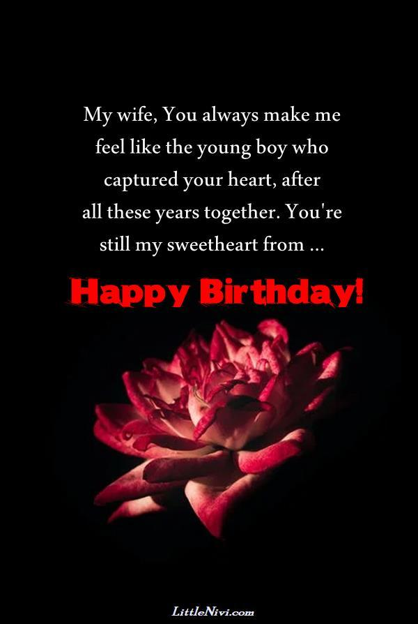 emotional birthday wishes for wife