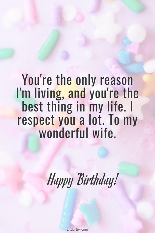sweet birthday wishes for wife perfect quotes for her