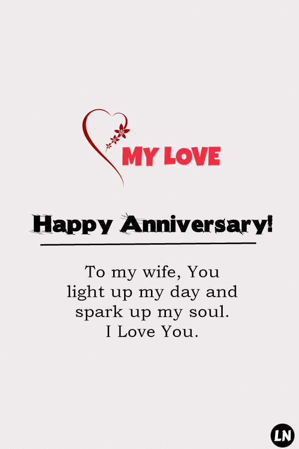 Best Wedding Anniversary Wishes for Wife love life