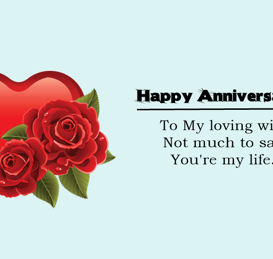 Happy Wedding Anniversary Wishes for Wife