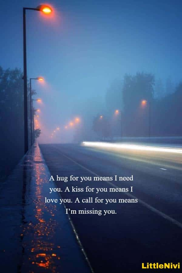 I miss you messages for husband love messages