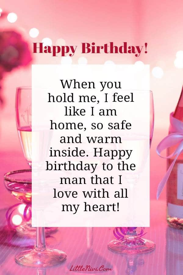 Romantic Happy Birthday Wishes for him with Love