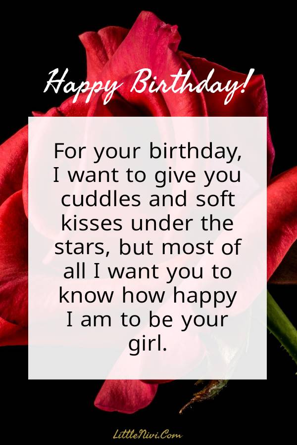 Birthday wishes for him — Romantic and Cute Birthday Wishes