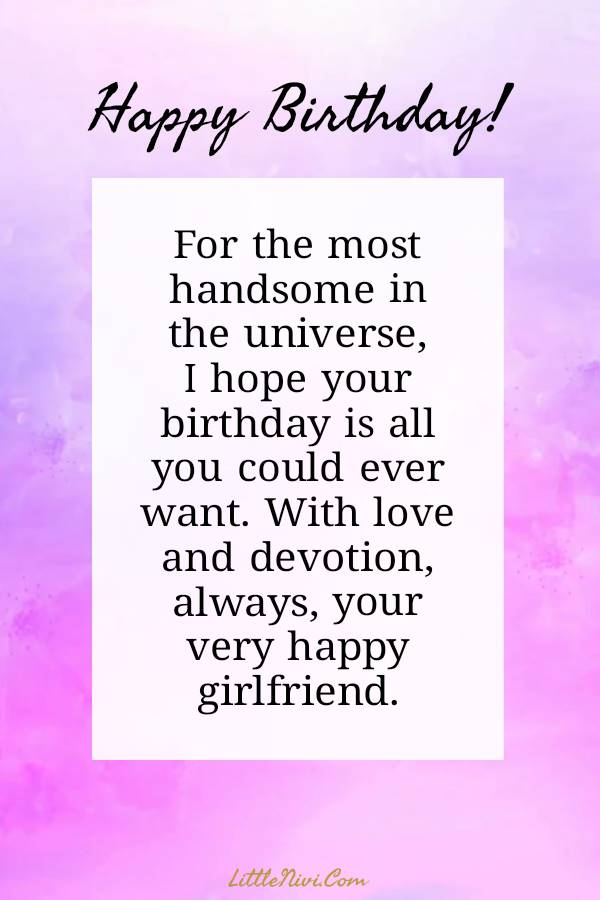 Happy Birthday Wishes For Him _ Romantic Birthday quotes for him - My Wishes