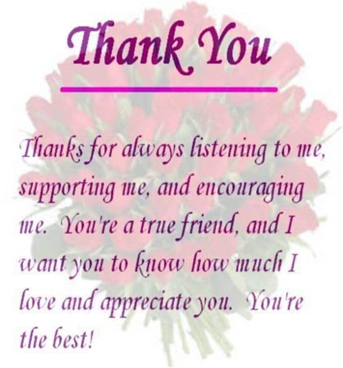 80 Thank You Quotes about Friendship Wishes and Messages | thank you for being my friend quotes