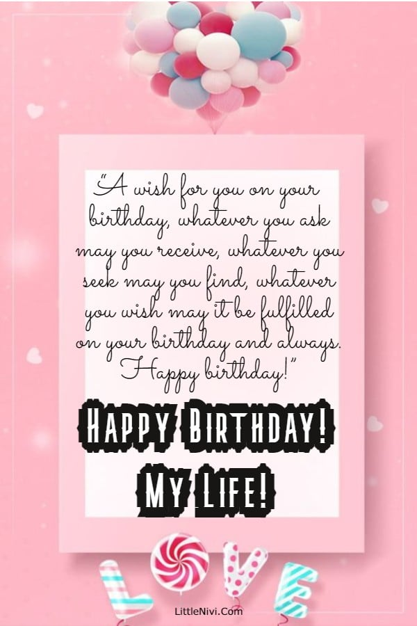 185 Romantic Birthday Wishes For Her Cute Happy Birthday Quotes For Her Best Happy Birthday Text Mes | Happy birthday  love, Birthday wishes for her, Birthday wishes for lover