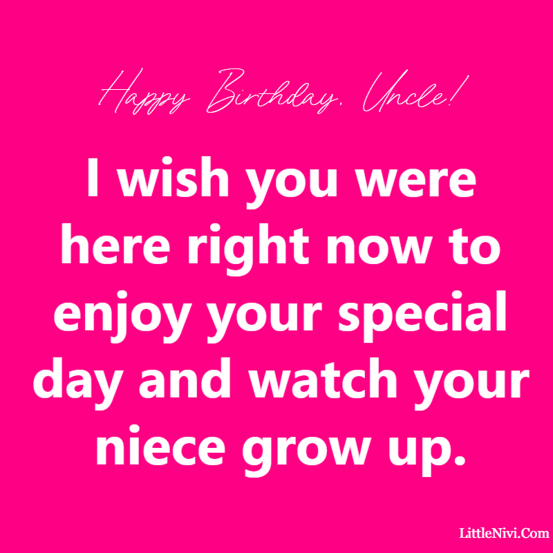 Birthday Wishes for an Uncle In Heaven