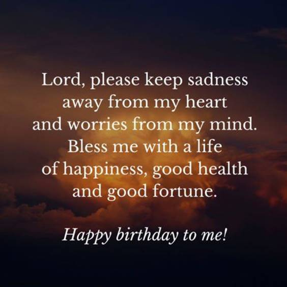 Birthday Wishes For My Self