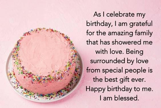 Inspirational Birthday Message For Myself