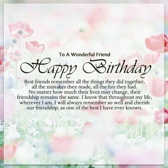 Happy Birthday Best Friend Paragraph