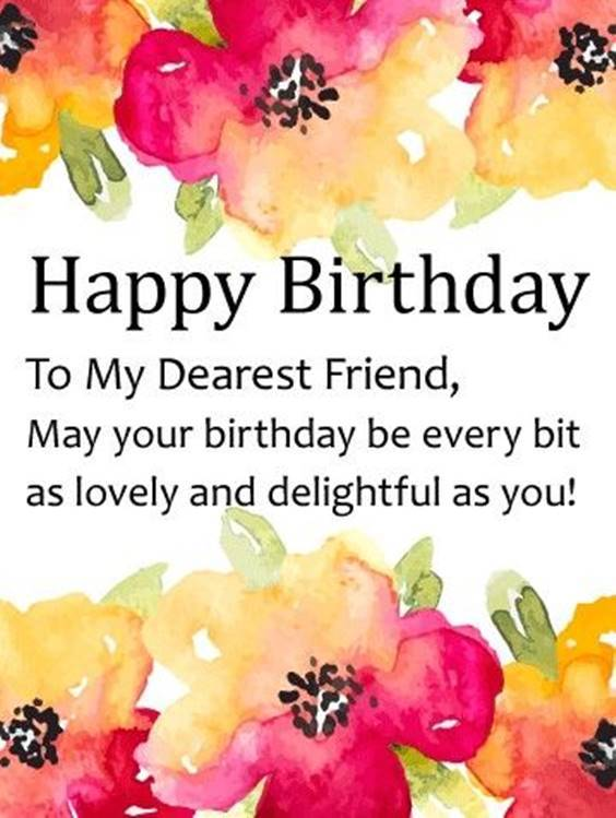 Happy Birthday Letter Friend