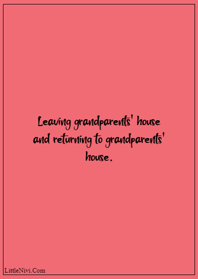 """60 Famous Grandparents Quotes """"Leaving grandparents' house and returning to grandparents' house"""""""