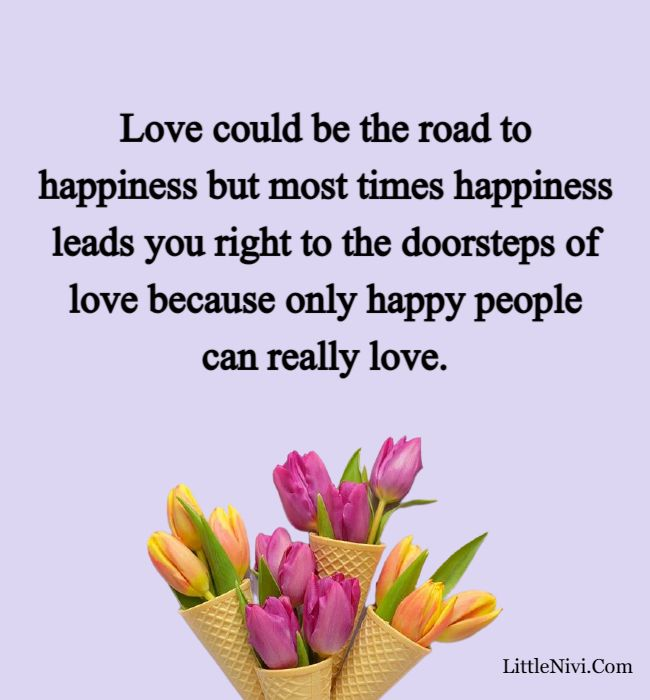 love happiness quotes - Love could be the road to happiness but most times happiness leads you right to the doorsteps of love because only happy people can really love.