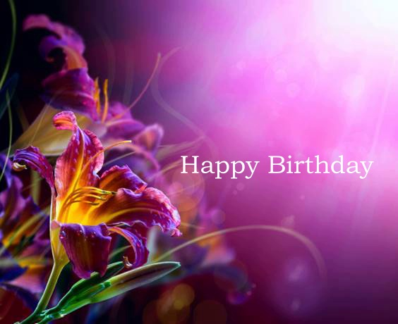 happy birthday a lot of flowers