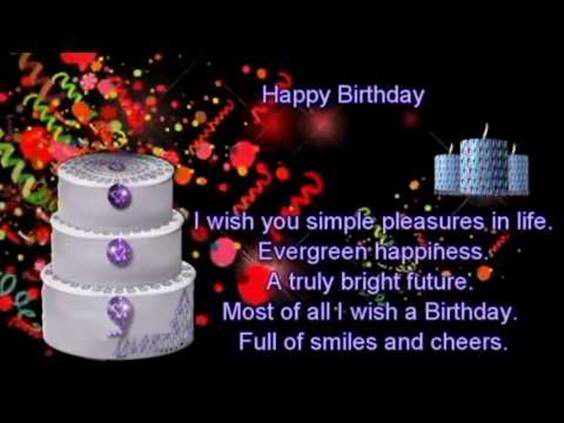 happy birthday and many blessings