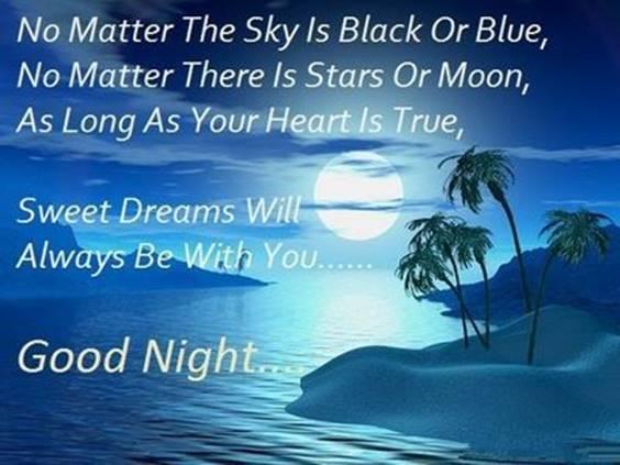 wishing you a restful night