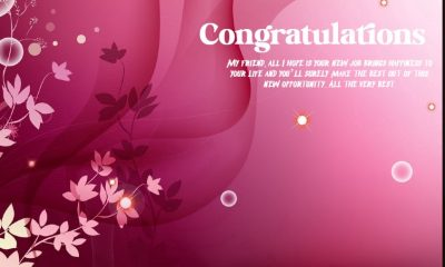 Fabulous Wishes for New Job – Congratulations Messages