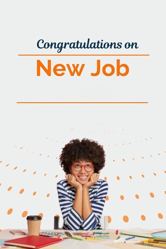 inspiring new job messages