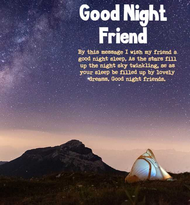 long goodnight messages for a friend