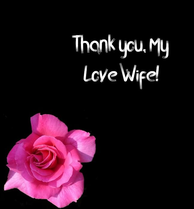 thank you message to wife
