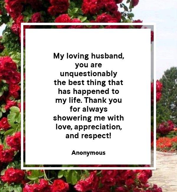 Heartfelt Thank You Messages For Husband